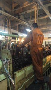 Inspection of Engine Spares is in Process